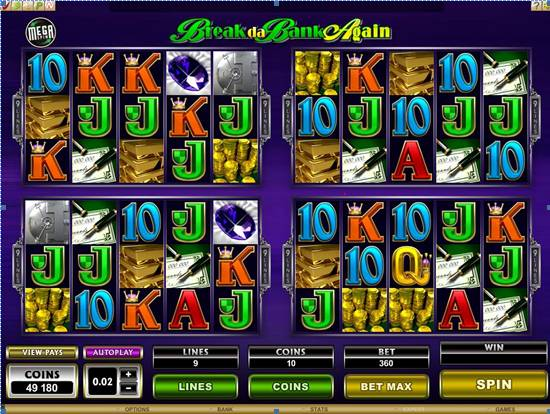 MegaSpin Break da Bank Again Video Slot