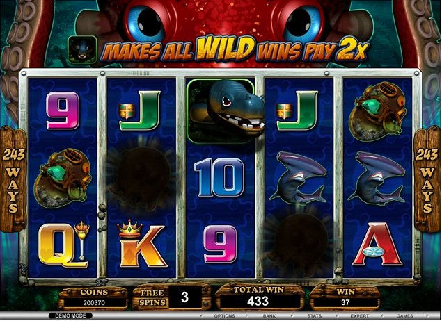 casino games undersea treasure slots