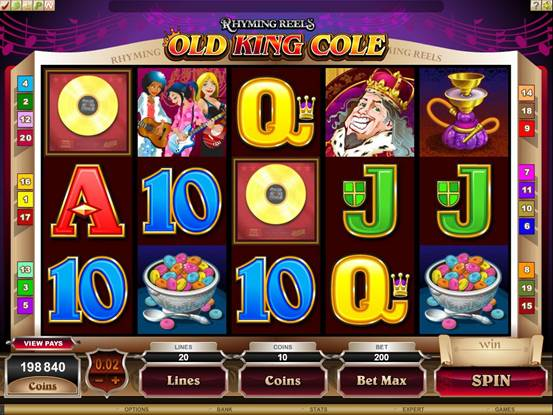 Rhyming Reels Old King Cole Video Slot Free Slots Spins