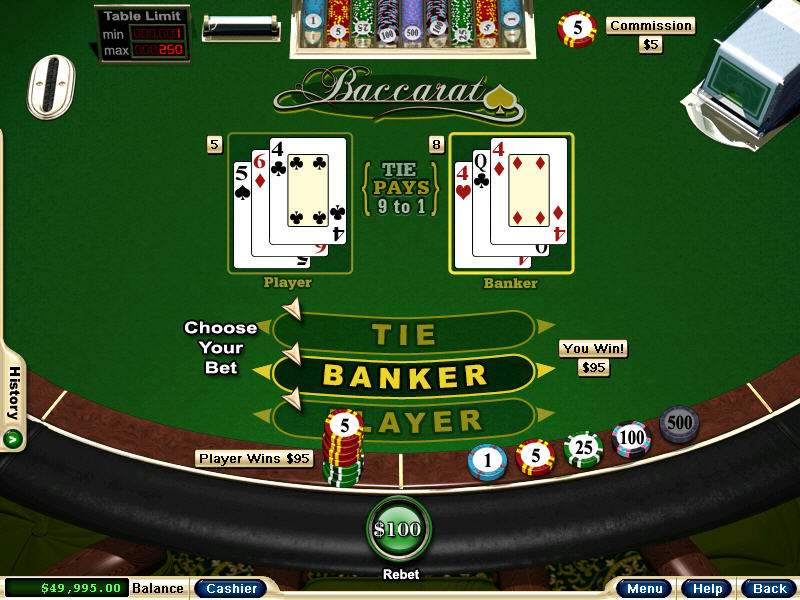 baccarat game casino