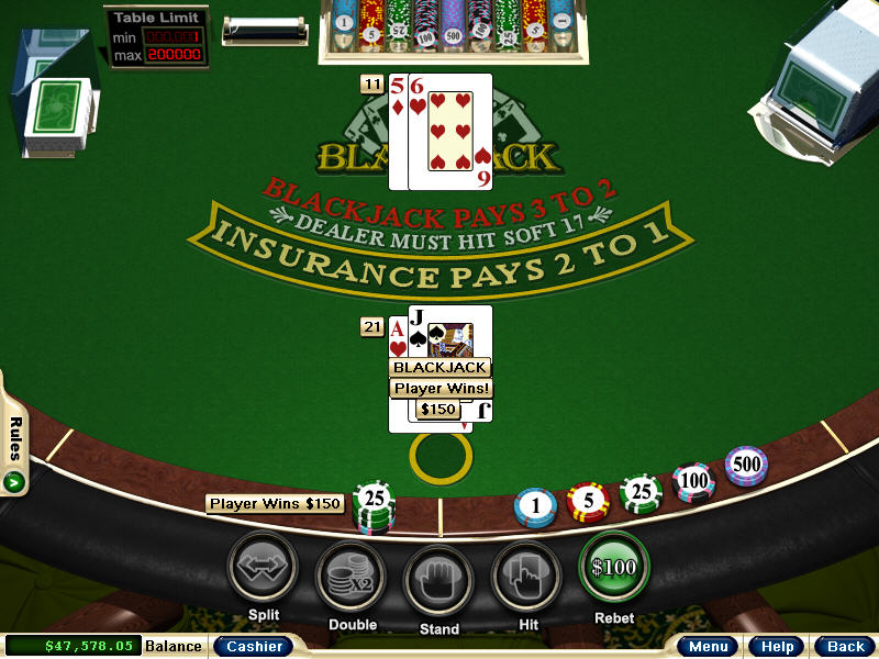 Blackjack game ipad