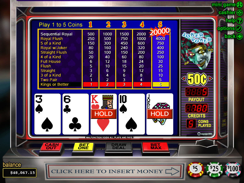 online slot games poker joker